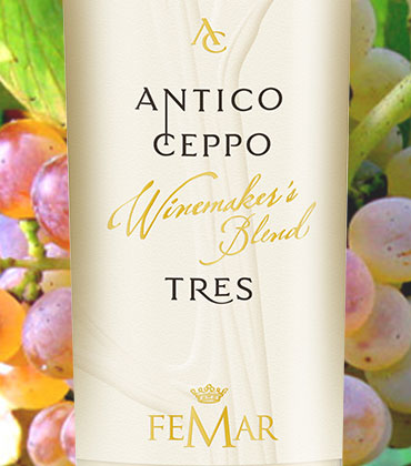 """""""TRES"""" BIANCO LAZIO IGP """"ANTICO CEPPO"""" – Neu, weiß und fruchtig"""
