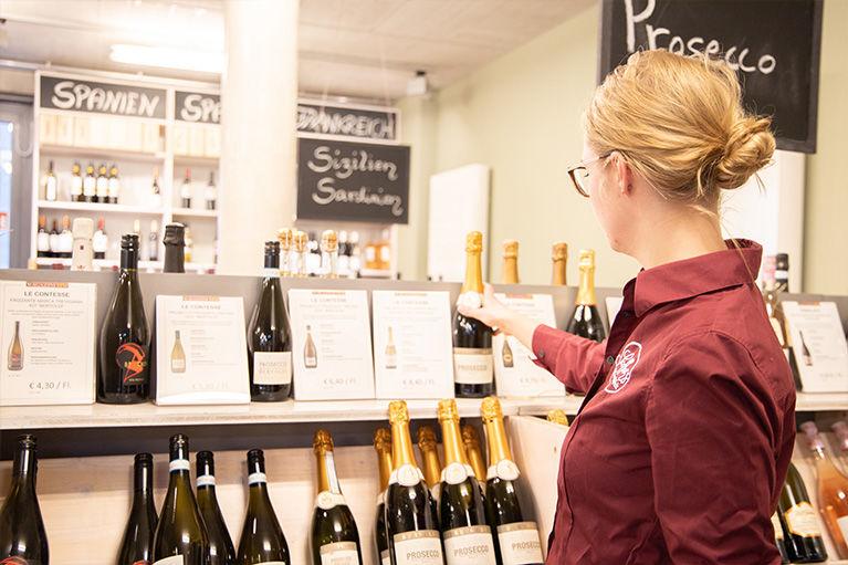Privatkunden: Online-Shop und Vinotheken