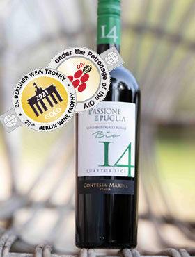 Gold für unseren neuen Bio-Wein – Passione di Puglia